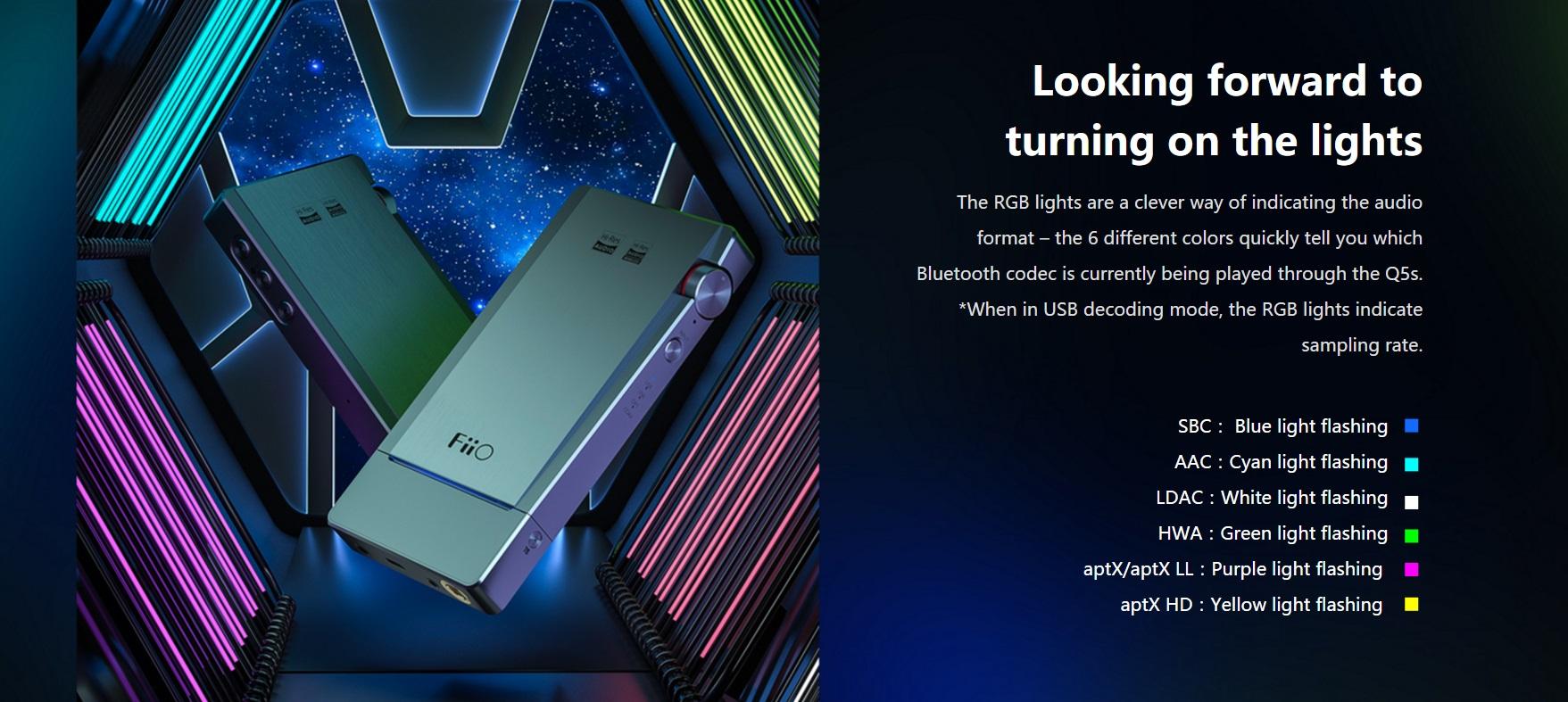 FiiO Q5s Bluetooth 5 0 AK4493EQ DSD USB DAC Kulaklık Amplifisi iPhone / PC  / Android / Sony